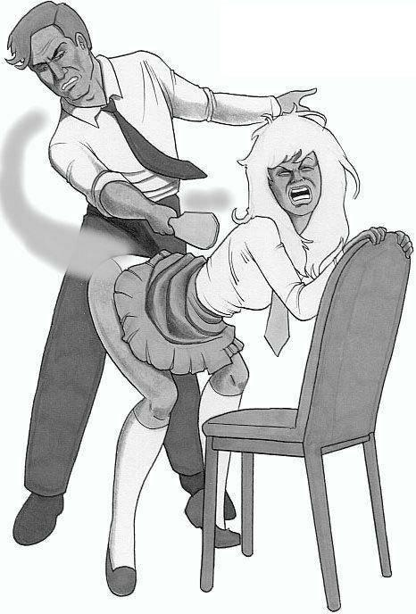 Saxon spanking otk art drawings